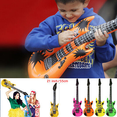 4pcs Inflatable Guitar Kids Children Blow Up Fancy Dress Party Bag Prop lot Toys