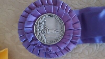 SUSSEX COUNTY FAIR  horse show Ribbon Medal