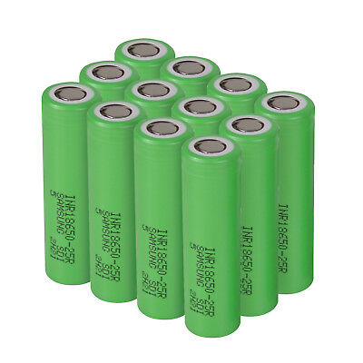 Lot Samsung 18650 Lithium 25R 2500mAh 25A Li-ion Battery Batteries-US
