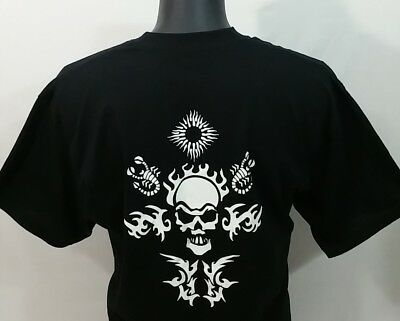 Captain Morgan Tattoo Rum T Shirt Men's XL Black Skull Rare Tee NWOT