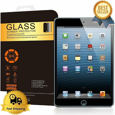 New 100% Real Tempered Glass Film Screen Protector For Apple iPad Mini 1/2/3 UK