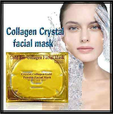 Premium Collagen Crystal Gold Moisturizing Face Masks Anti Ageing Skin Care *