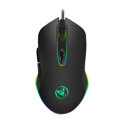 4800DPI 6Button LED Programmable USB Wired Gaming Mouse Mice For Pro Gamer