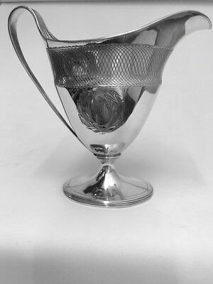 A LARGE GEO III CREAM JUG - LONDON - 1795 by HENRY CHAWNER