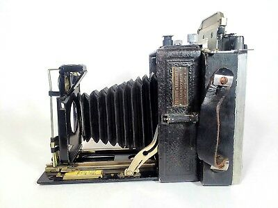 German POTTHOFF & ABBENTHERN ACCORDIAN FOLDING PLATE CAMERA AMERICAN ADAPTER