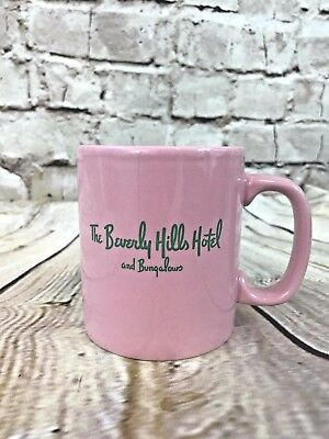 Beverly Hills Hotel Bungalows Mug Vintage Pink Green Rodeo Drive Hollywood  T2