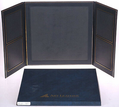 Art Leather BLACK Flip Photo Display for ONE (1) 11x11 + Four (4) 5x5 - NEW