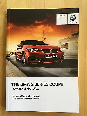 New BMW Owner's Manual 2 Series 228i M235 Coupe X-Drive 2014-17