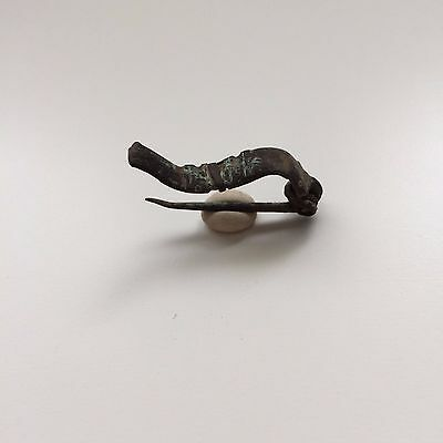 Great Small Bronze Antique Roman Fibula 2-4 AD