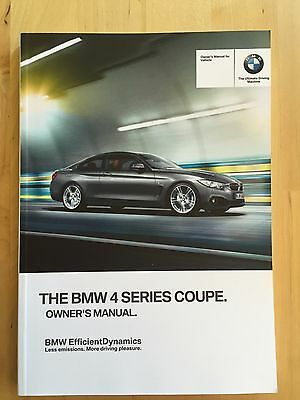 New BMW Owner's Manual 4 Series Coupe 428, 435 X-Drive 2014-17