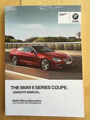 New BMW Owner's Manual 6 Series 650i Coupe X-Drive 2013-17