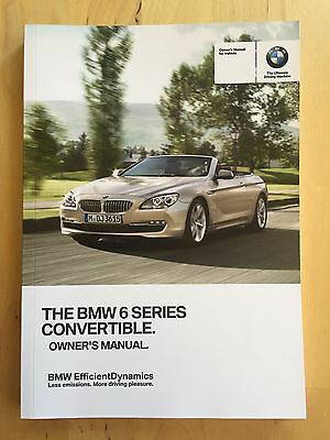 New BMW Owner's Manual 6 Series 650i Convetible X-Drive 2013-17