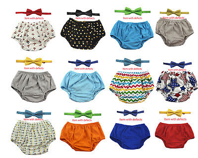 Items with deffects 1st Birthday boy cake smash outfit bow tie bloomers 12 mo