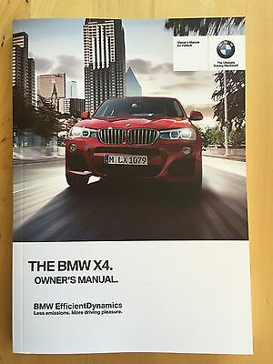 New BMW Owner's Manual X4 Series X4 28i 35i 2015-17