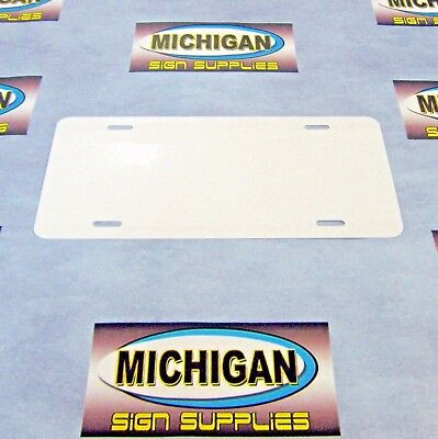 5 Pack of White .024 Aluminum License Plate Blanks **Create Your Own Designs**