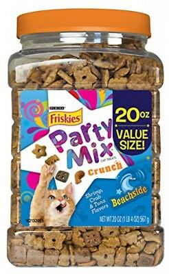 Purina Friskies Party Mix, Beachside Crunch, Shrimp, Crab And Tuna Flavors, Of