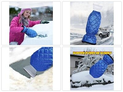 Car Snow Shovel with Thicken Warm Remover Gloves Ice Scraper for Car Windshield