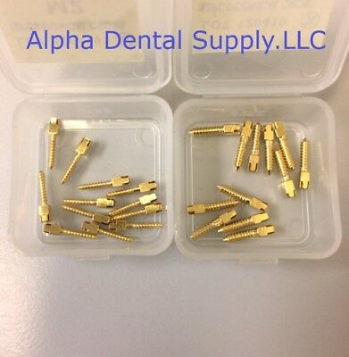 Dental Gold Plated Screw Posts Cross Head Dentatus Type Box/12