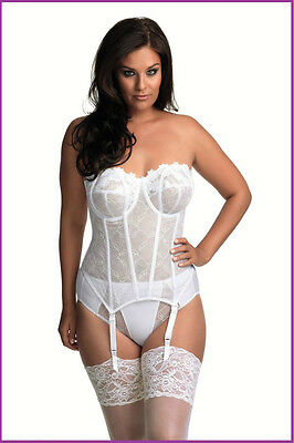 NWT Beautiful Bra-Sized 32F White Strapless Bustier by Elomi - 60% Off