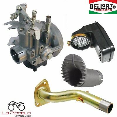 Carburatore Dell'orto Shbc 19 Completo Filtro Collettore Vespa 50 125 Pk Xl 3For