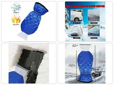 Ice Scraper Mitt For Car Windshield Ice Scrapers with Waterproof Glove Thick Fle