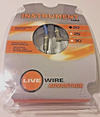 LIVEWIRE Advantage Instrument Cable Angled/Straight 1 ft. Black ...
