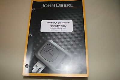 John Deere 350D 400D Series 2 Articulated Dump Truck Test Service Manual Tm11518