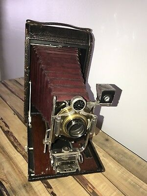 Antique Large Kodak No. 4A Model B Folding Camera Bausch & Lomb Lens Rapid 1900