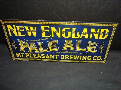 Circa 1915 New England Pale Ale Embossed Sign, Mt. Pleasant Brewing