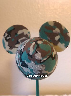 DISNEY  MICKEY CAMOUFLAGE  MILITARY  Antenna Topper BALL OR PENCIL LAST ONE