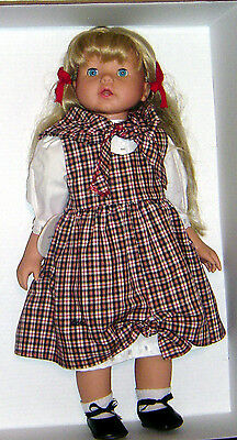 "20 ""  Gotz Doll Vinyle & Cloth #55061 Blond / Open & Close Blue Eyes"