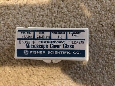 Fisher Microscope Cover Glass for petrographic slides, 24x40mm