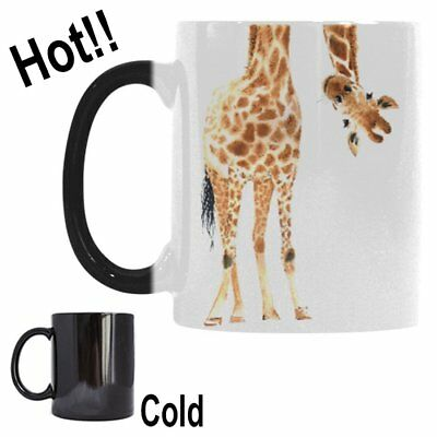 Giraffe Animal Print Morphing Mug Heat Sensitive Color Changing Coffee Mug