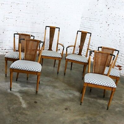 Mid Century Modern Metz Contempora Dining Chairs by William Clingman Set of Six