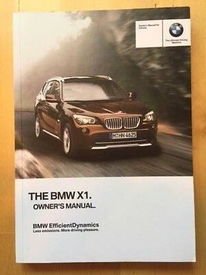 New BMW Owner's Manual X1 28i & 35i  2009-15