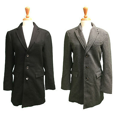 Banana Republic Men's Wool Cashmere 3 Button Dress Coat Peacoat Jacket