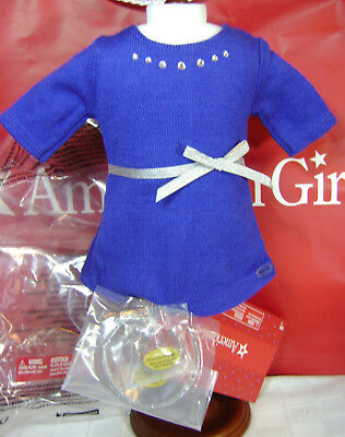 American Girl Doll Blue Studded Rhinestone Outfit New 2017 Lea Ivy Z Winter Knit