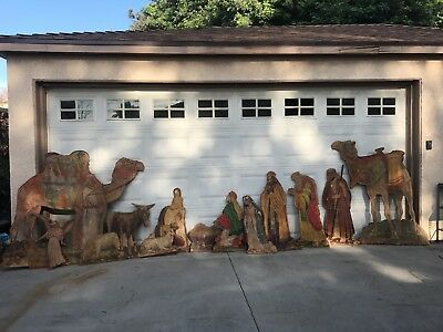 VINTAGE NATIVITY SET Outdoor 13pc plywood Yard Decor
