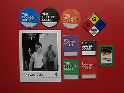 "GOO GOO DOLLS ,1 promo photo,9 ""OTTO"" Backstage passes,RARE Originals"