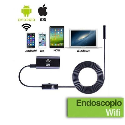 Telecamera Endoscopica Wifi Per Ispezione Endoscopio Iphone Android 3,5 Metri