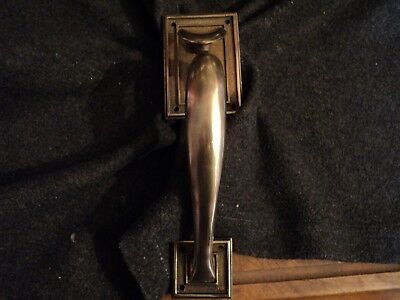 vintage copley brass door pull handle # 424 thumb latch open