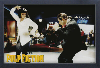 PULP FICTION DANCE 13x19 FRAMED GELCOAT POSTER UMA THURMAN JOHN TRAVOLTA JACKSON
