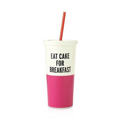 New Kate Spade New York Eat Cake For Breakfast Insulated Tumbler