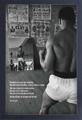 MUHAMMAD ALI GYM 13x19 FRAMED GELCOAT POSTER BOXING WORLD ICONIC GREAT CHAMPION!