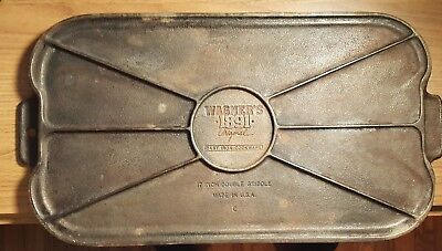 Wagner Ware 17 Inch Double Griddle 1891, cast iron, made in USA