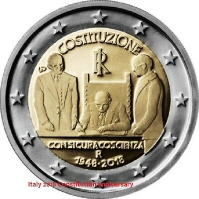 SOON IN STOCK - ITALY 2 Euro 2018 commemorative coin - Constitution