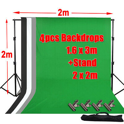 Photography Black White Green Grey Screen Backdrop Studio Background Stand Kit