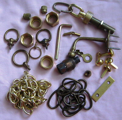 Lot of vintage assorted metal/Brass  junk drawer Treasure hunt  1pd 2oz. See pic