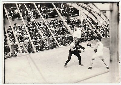 RARE ca 1915-1920 Boxing Match Orig 5x7 Photo - Buffalo NY Street - Boxers