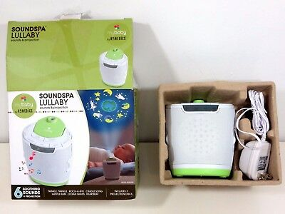 myBaby Soundspa Lullaby Sound Machine and Projector Soothing Baby White Noise